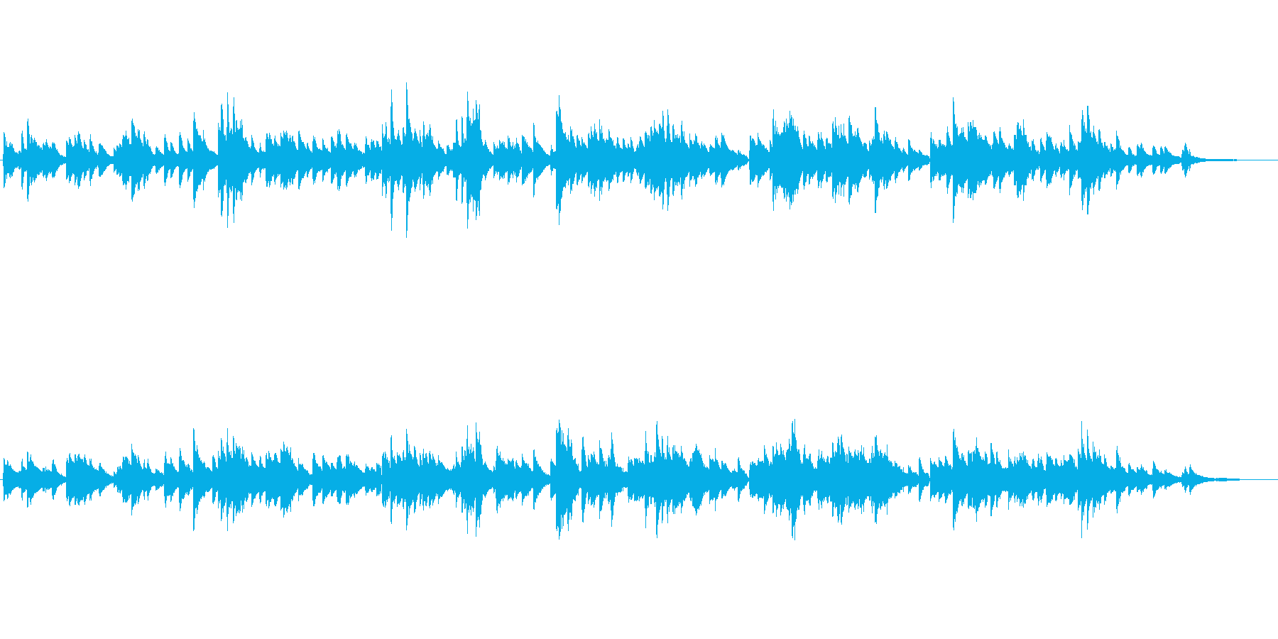 生ピアノソロ・ピアノの思い出の再生済みの波形