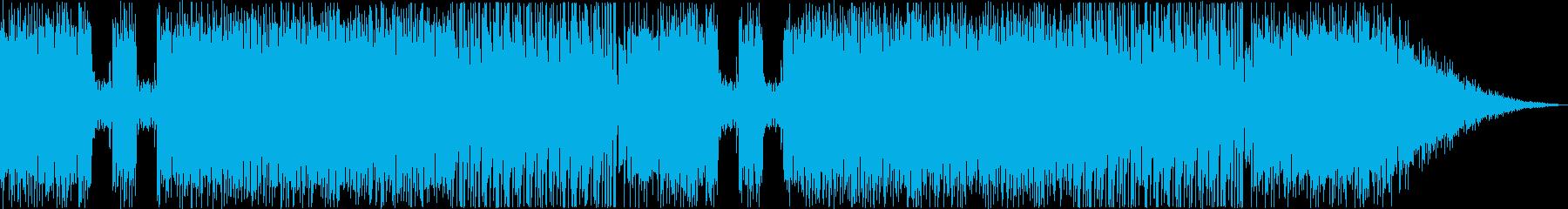 ゲームの中にいるようなポップミュージックの再生済みの波形