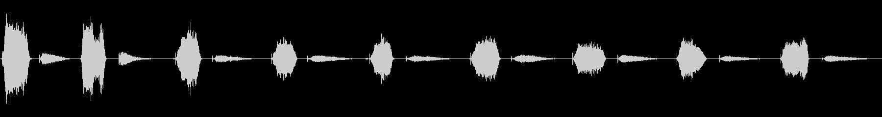 スキューバレギュレータを介して呼吸...の未再生の波形