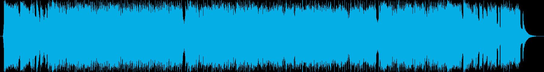 エレキギターが熱い骨太ロックサウンドの再生済みの波形