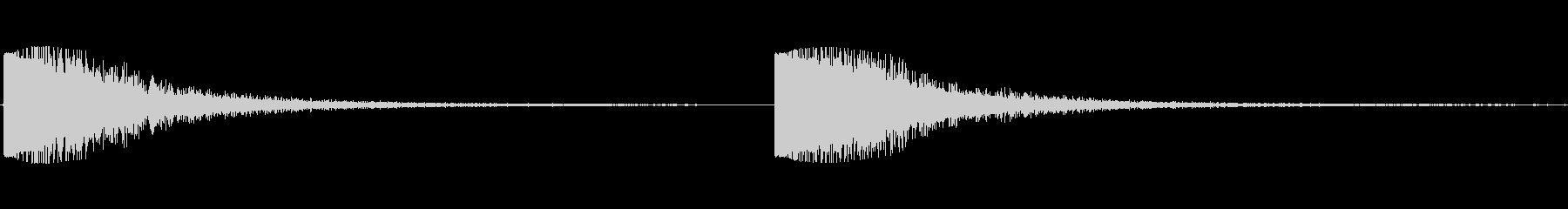 金属ハンマーヒットリバーブの未再生の波形