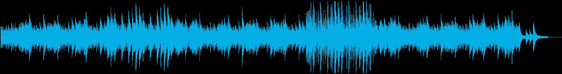 水が流れるイメージのピアノの再生済みの波形