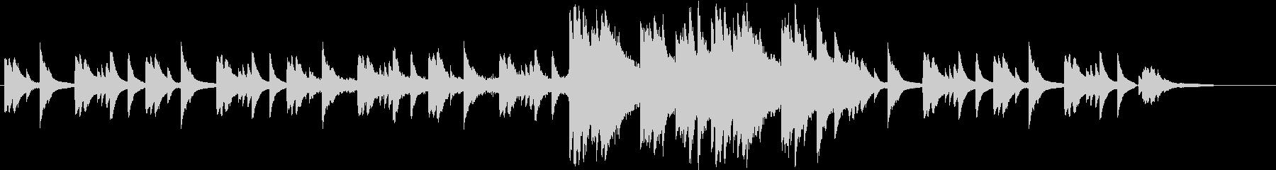 ピアノがメインのアンビなインストですの未再生の波形