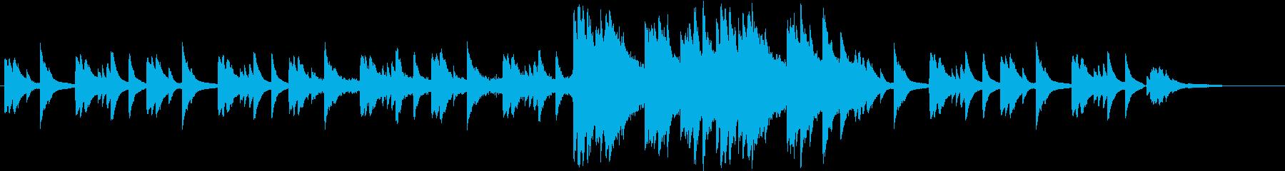 ピアノがメインのアンビなインストですの再生済みの波形
