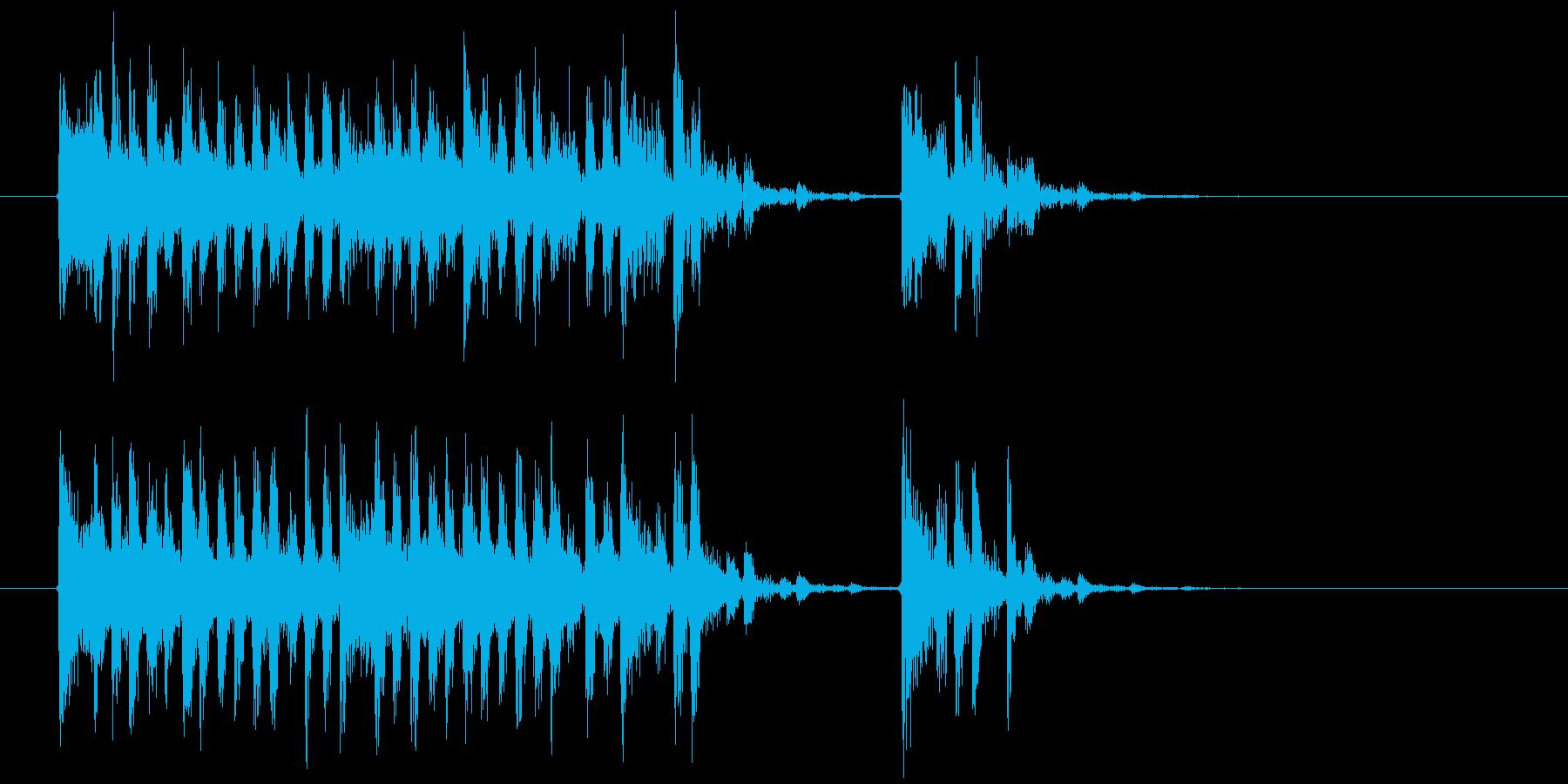 幻想的でミステリアスな音楽の再生済みの波形