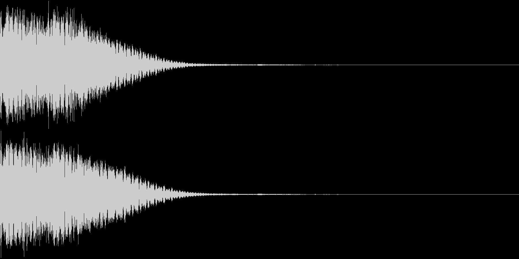 クリック音、キラン、キュイン、ピコン08の未再生の波形