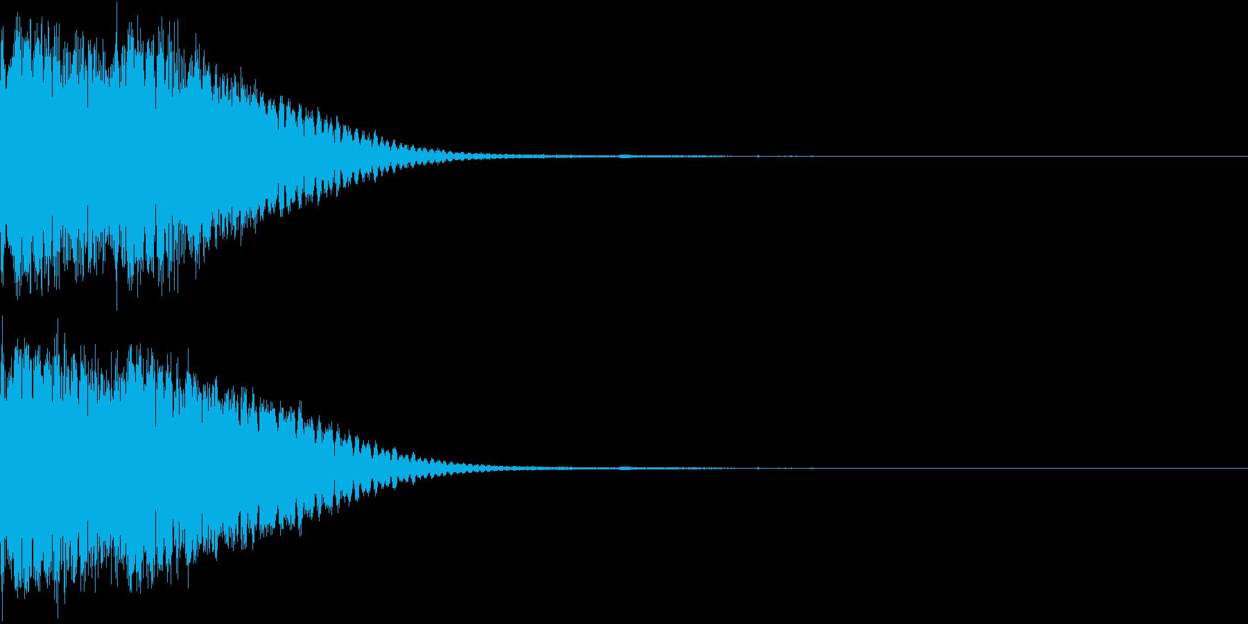 クリック音、キラン、キュイン、ピコン08の再生済みの波形