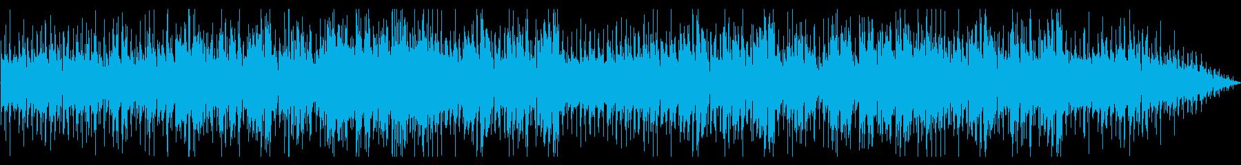 美しい映像に合うピアノ旋律の曲の再生済みの波形