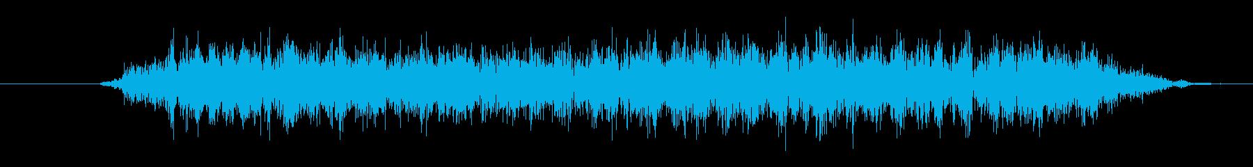 大きなクリーチャー:低音のうなり声の再生済みの波形