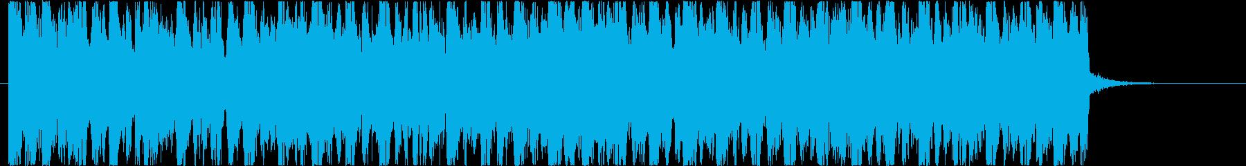 CMや情報番組向けのデジタルな電子ポップの再生済みの波形