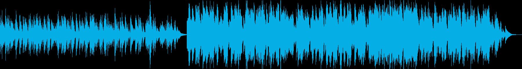ケルトのホイッスルとハープの柔らかな曲7の再生済みの波形