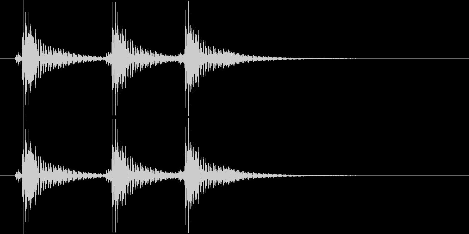 べべべん(三味線)の未再生の波形