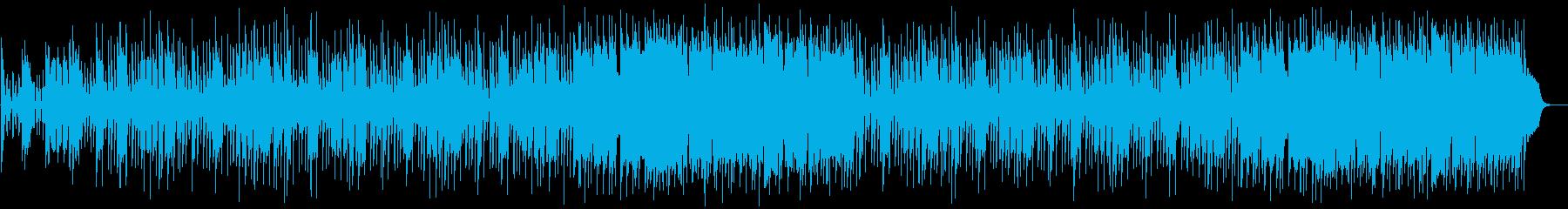 ミドルテンポのハードロックの再生済みの波形