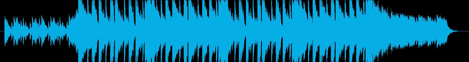 ダークな雰囲気のEDMの再生済みの波形