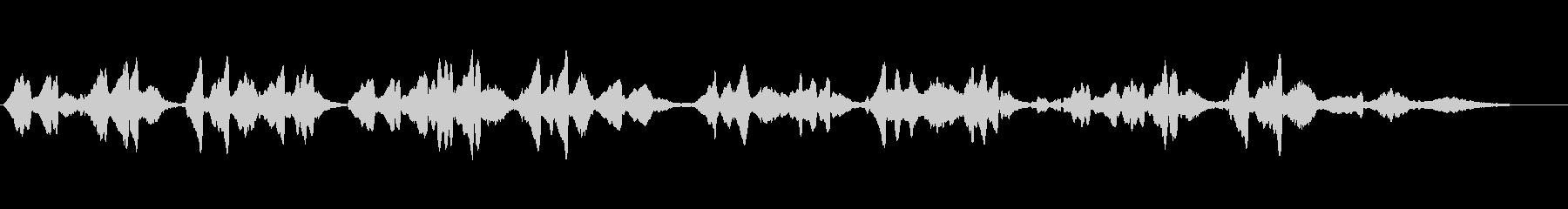 「もみの木」をヴァイオリンソロでの未再生の波形