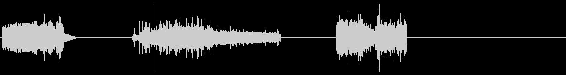 電源出力、レーザーX3の未再生の波形