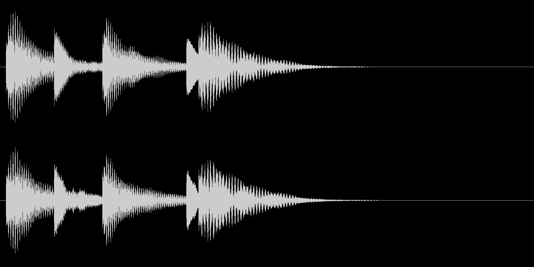 木琴 可愛い シンプル 日常 ジングル の未再生の波形