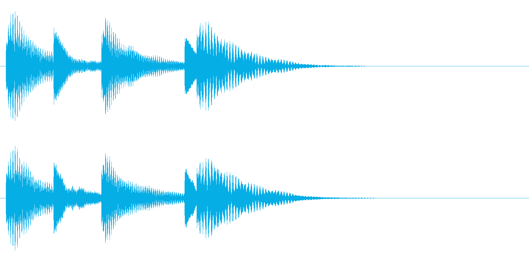 木琴 可愛い シンプル 日常 ジングル の再生済みの波形