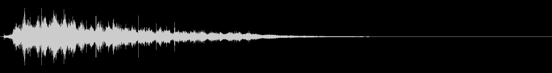 バサバサバサッ(鳥が飛び立つ音)の未再生の波形