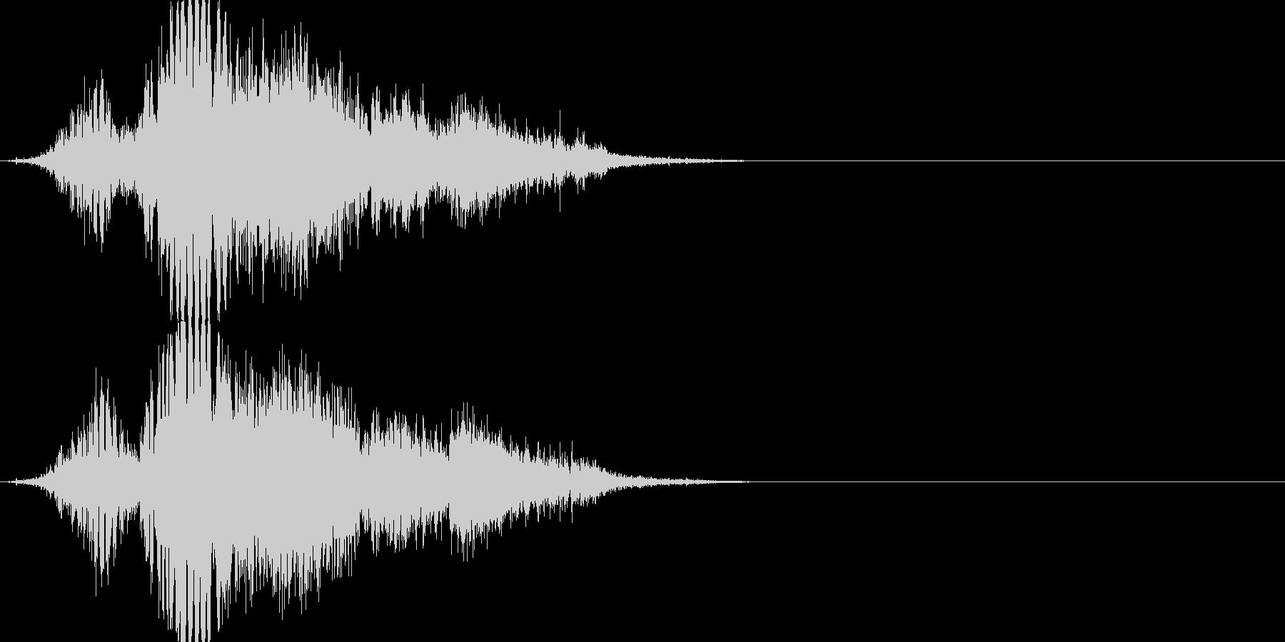 斬撃音(刀や剣で斬る/刺す効果音)15の未再生の波形