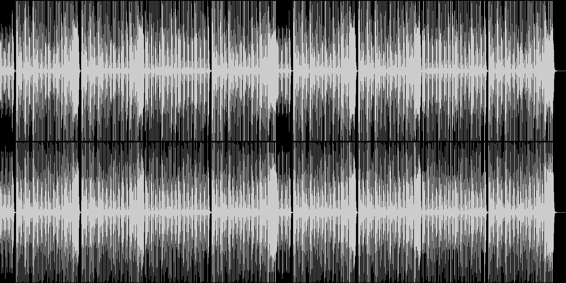 無邪気さ溢れる木琴の曲の未再生の波形