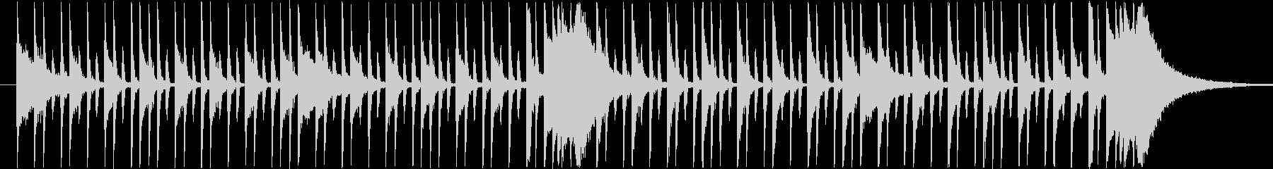 スタイリッシュなロックドラムBGMの未再生の波形
