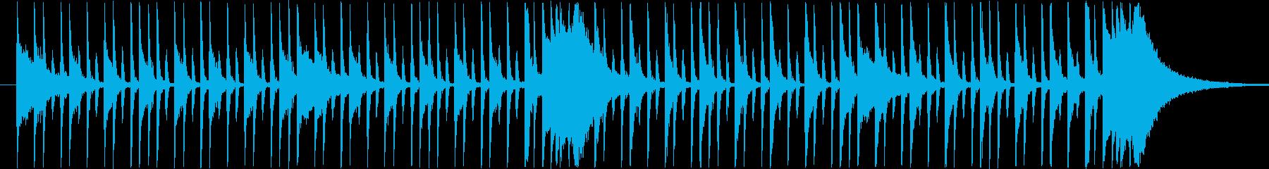 スタイリッシュなロックドラムBGMの再生済みの波形