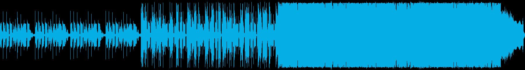 エレクトロなロックですの再生済みの波形