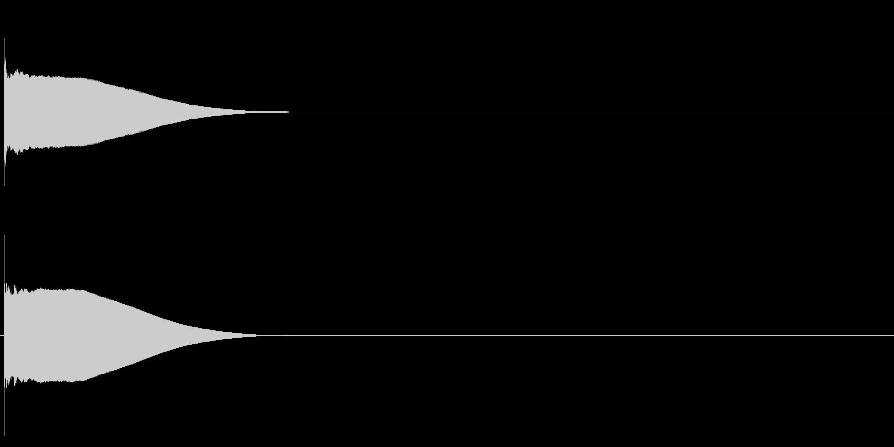 グロッケン系 ボタン音1(単)の未再生の波形