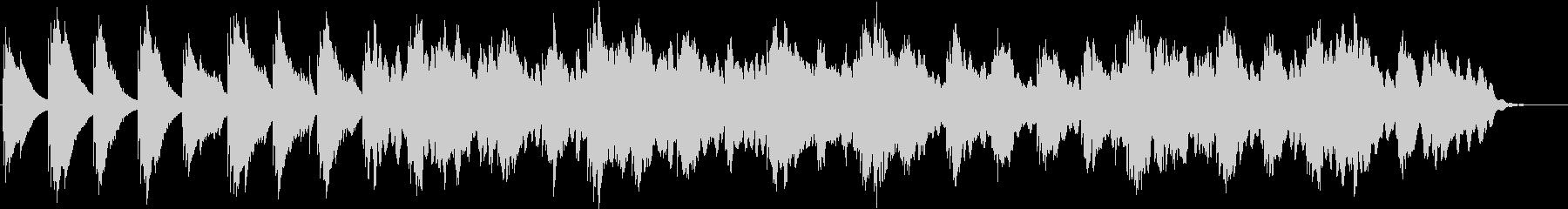 オルゴールのバラード、リラックス、ピアノの未再生の波形