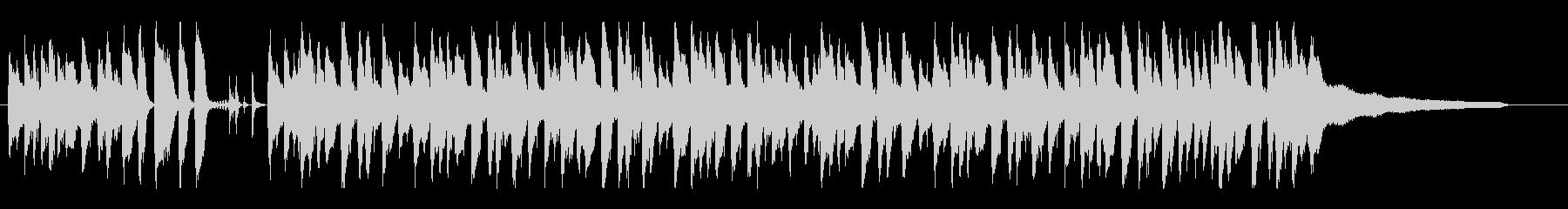 ゆったりおしゃれなの明るいボサノバの未再生の波形