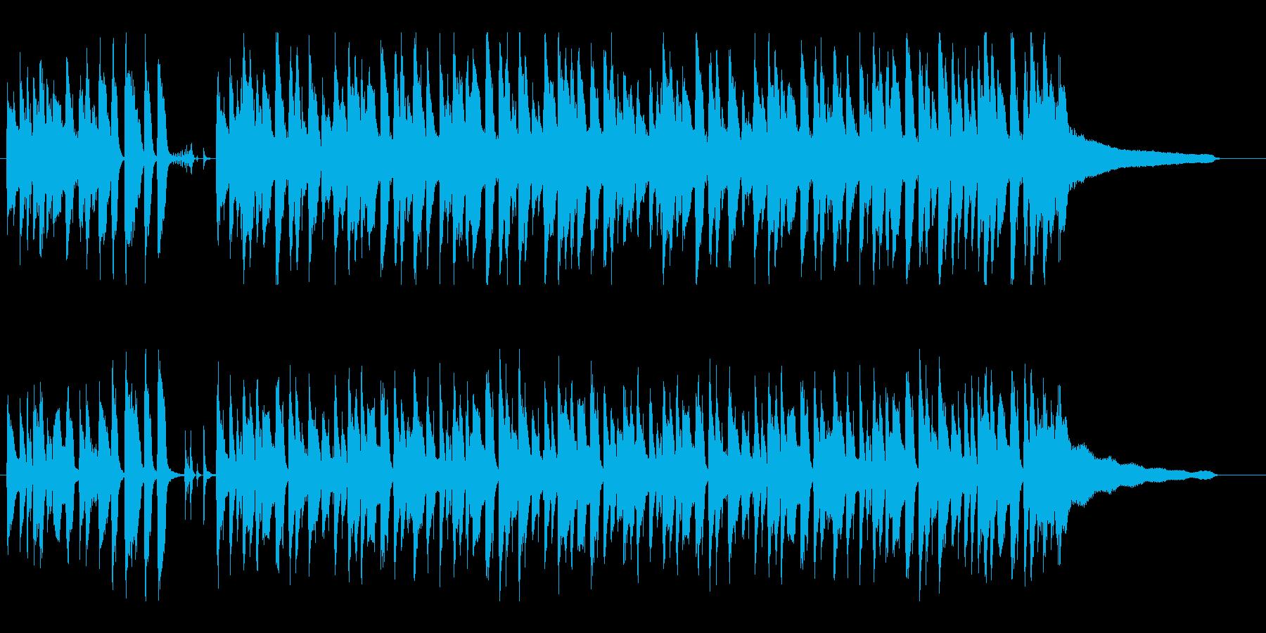 ゆったりおしゃれなの明るいボサノバの再生済みの波形