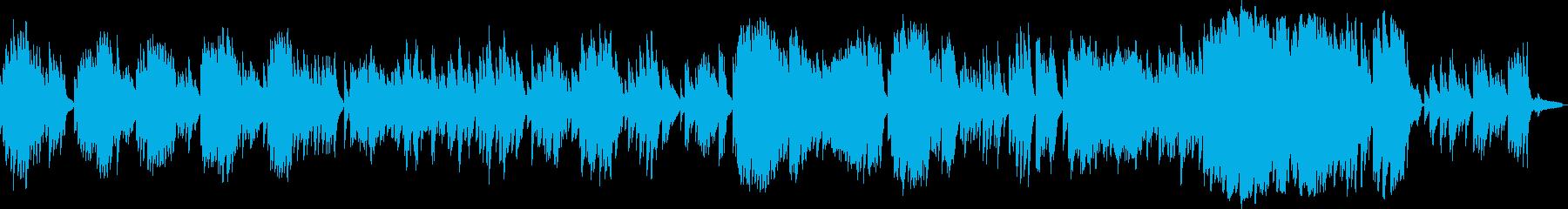おしゃれで優雅で切ないラウンジ風ピアノの再生済みの波形