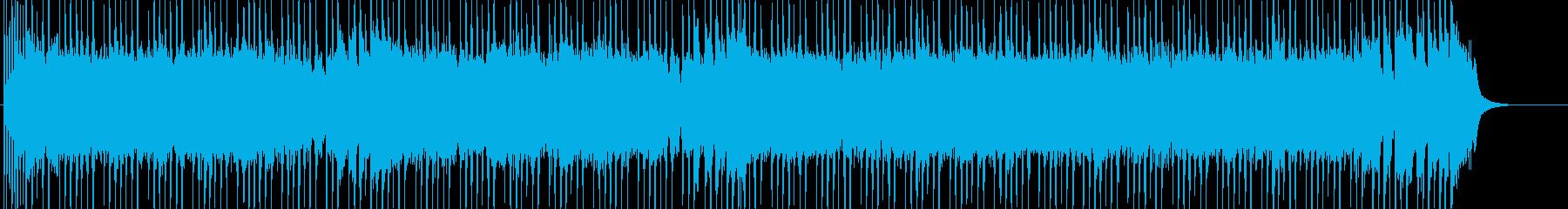 楽しいドライブをイメージしたロックの再生済みの波形