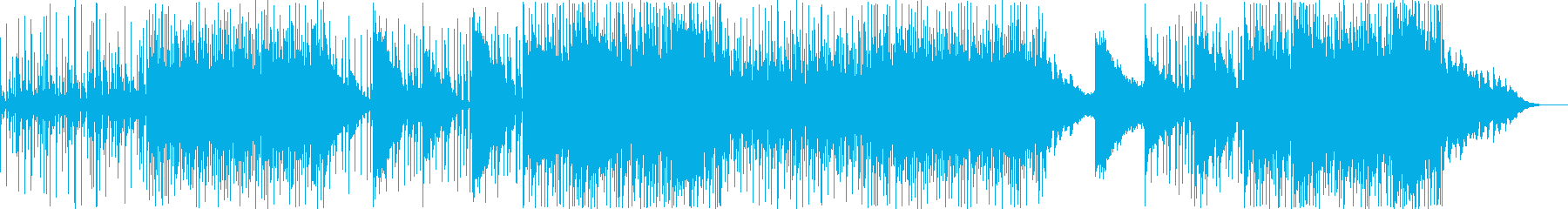 クールでミステリアスな印象のEDM風の曲の再生済みの波形