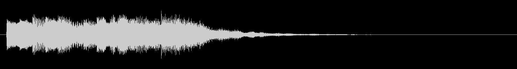 不思議で電子的なサウンドロゴの未再生の波形