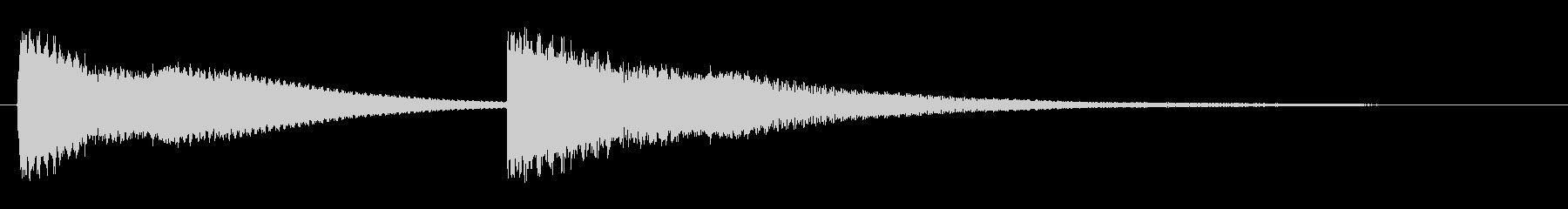 ピンポン(チャイムを鳴らす効果音)の未再生の波形