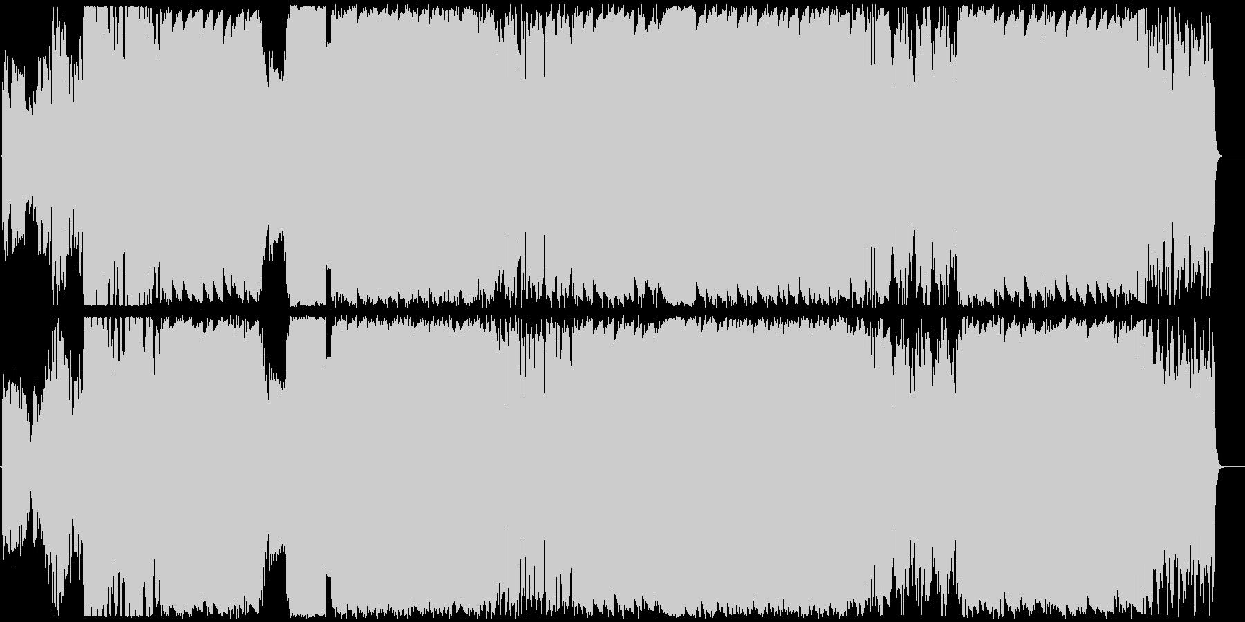 耳を突き抜ける強烈なビートとワブルベースの未再生の波形