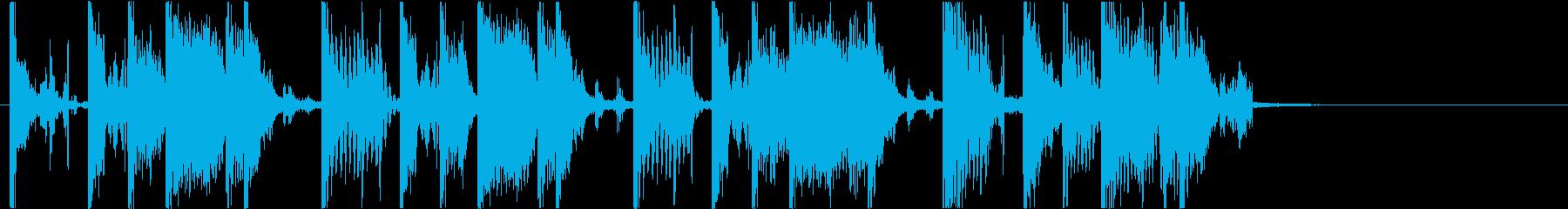 【DJ効果音】派手なジャケットの再生済みの波形