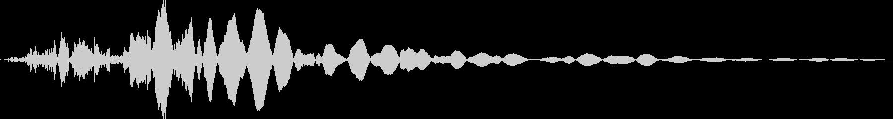 重低音インパクトガタガタ、ガタガタ...の未再生の波形