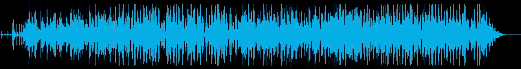 生ウクレレの爽やかハワイアン風の再生済みの波形