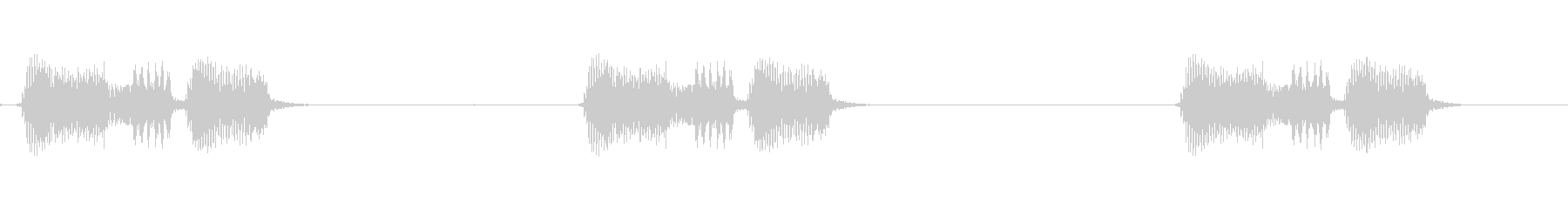 カラスの鳴き声(2羽同時)の未再生の波形
