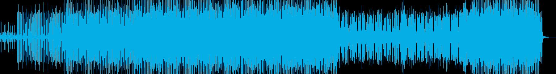 近未来感のあるおしゃれなメロディーの再生済みの波形