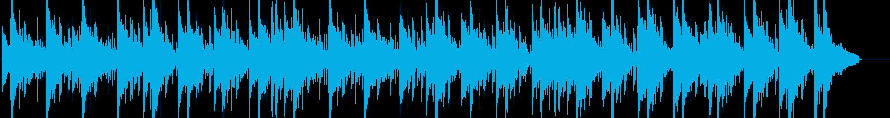 のんびりと余裕を感じるおしゃれなBGMの再生済みの波形