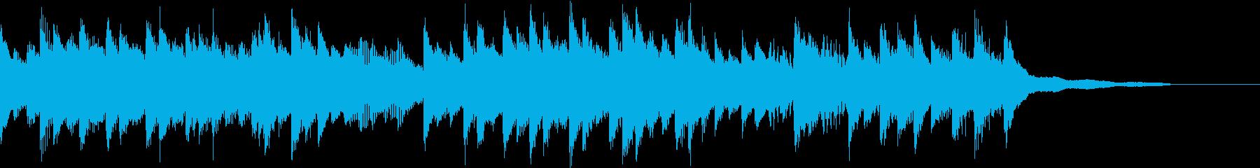 フォークで懐かしい雰囲気のピアノジングルの再生済みの波形