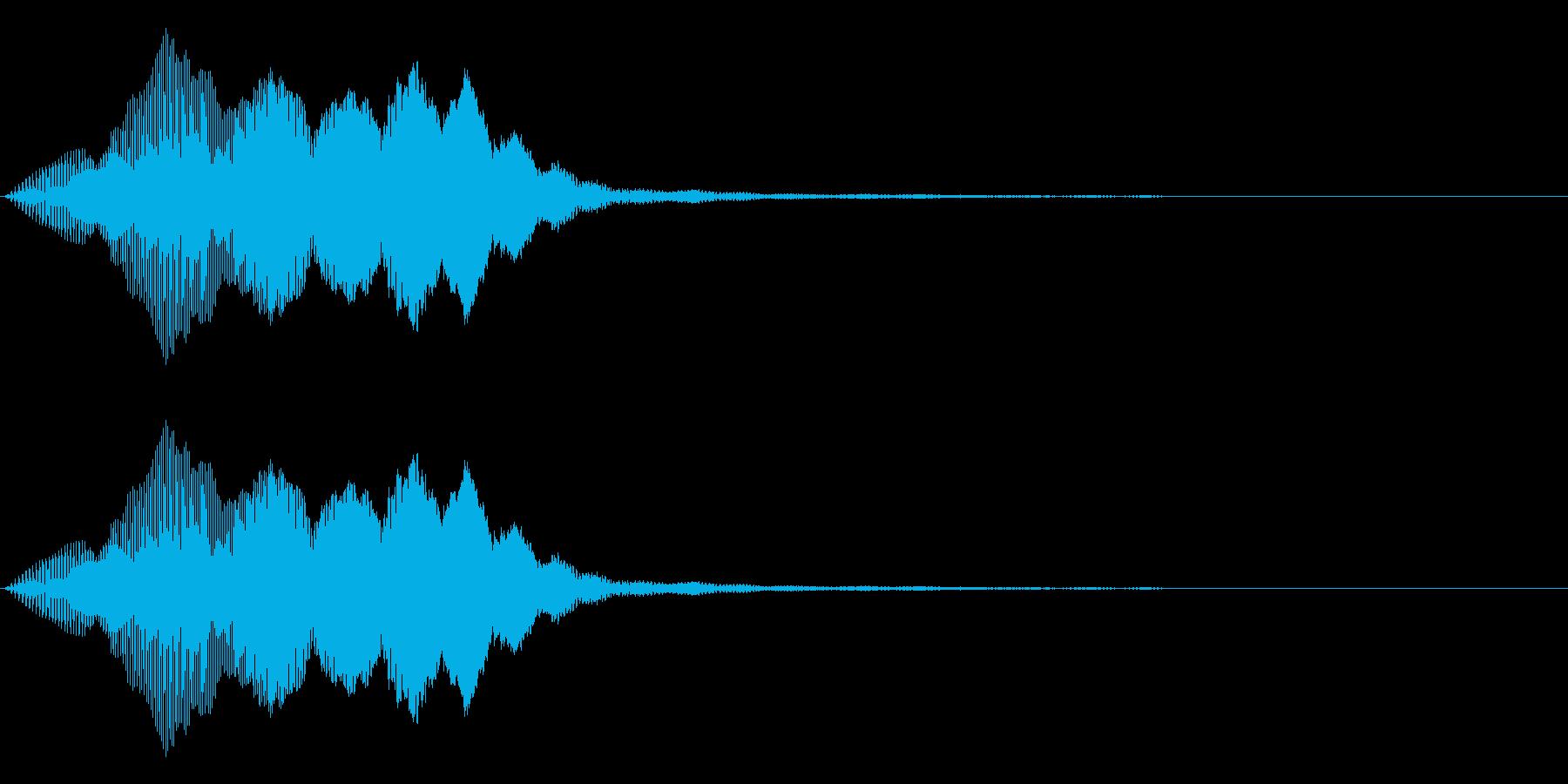 ヒュイッ_コミカルな投げる音の再生済みの波形