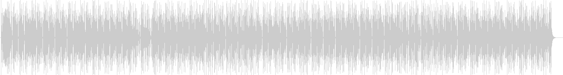 ミディアムテンポEDM風シンセサイザー曲の未再生の波形