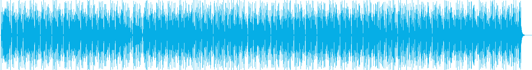 ミディアムテンポEDM風シンセサイザー曲の再生済みの波形