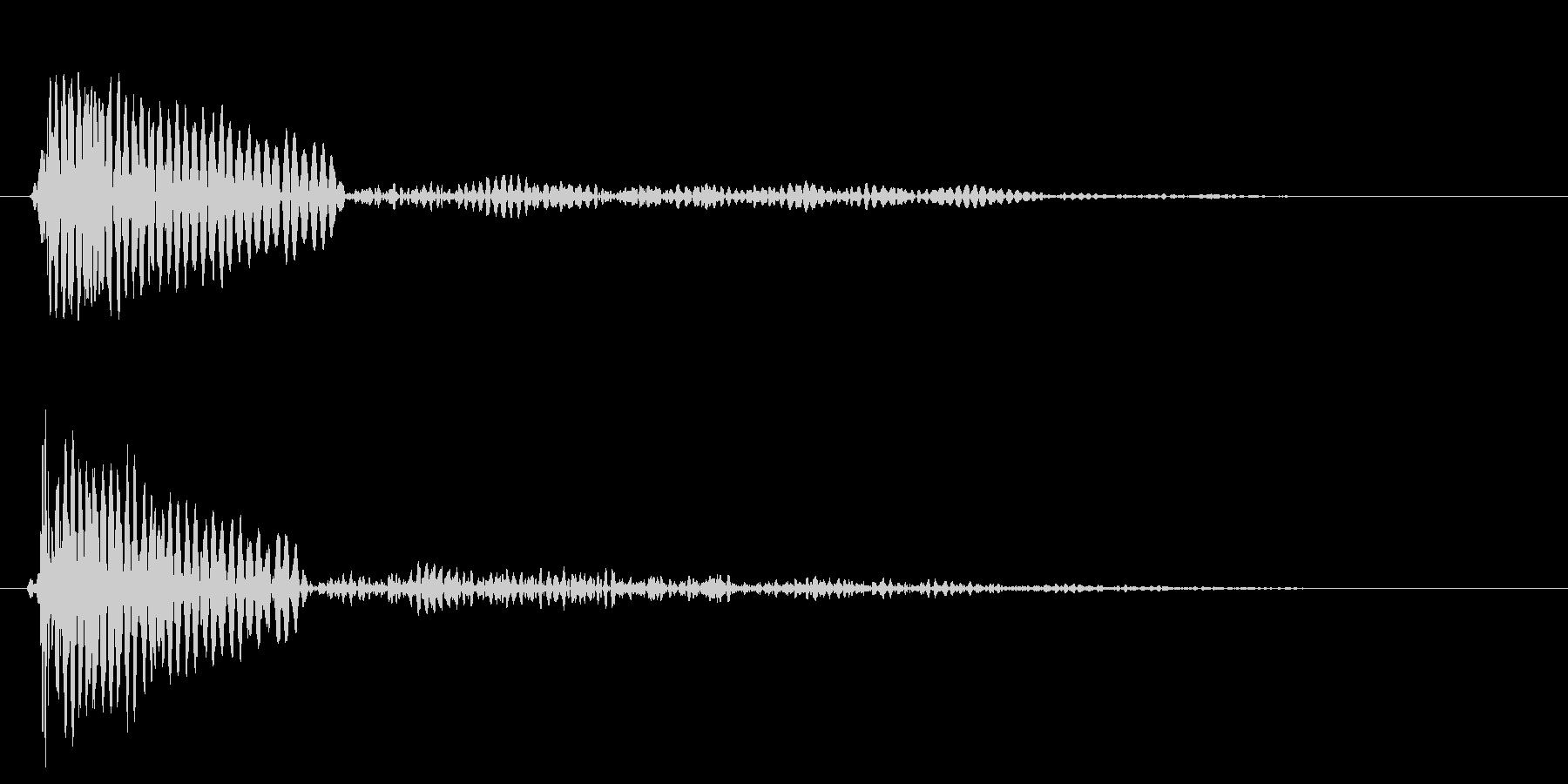 チュ〜ッ(小鳥のさえずり音・警戒音)の未再生の波形