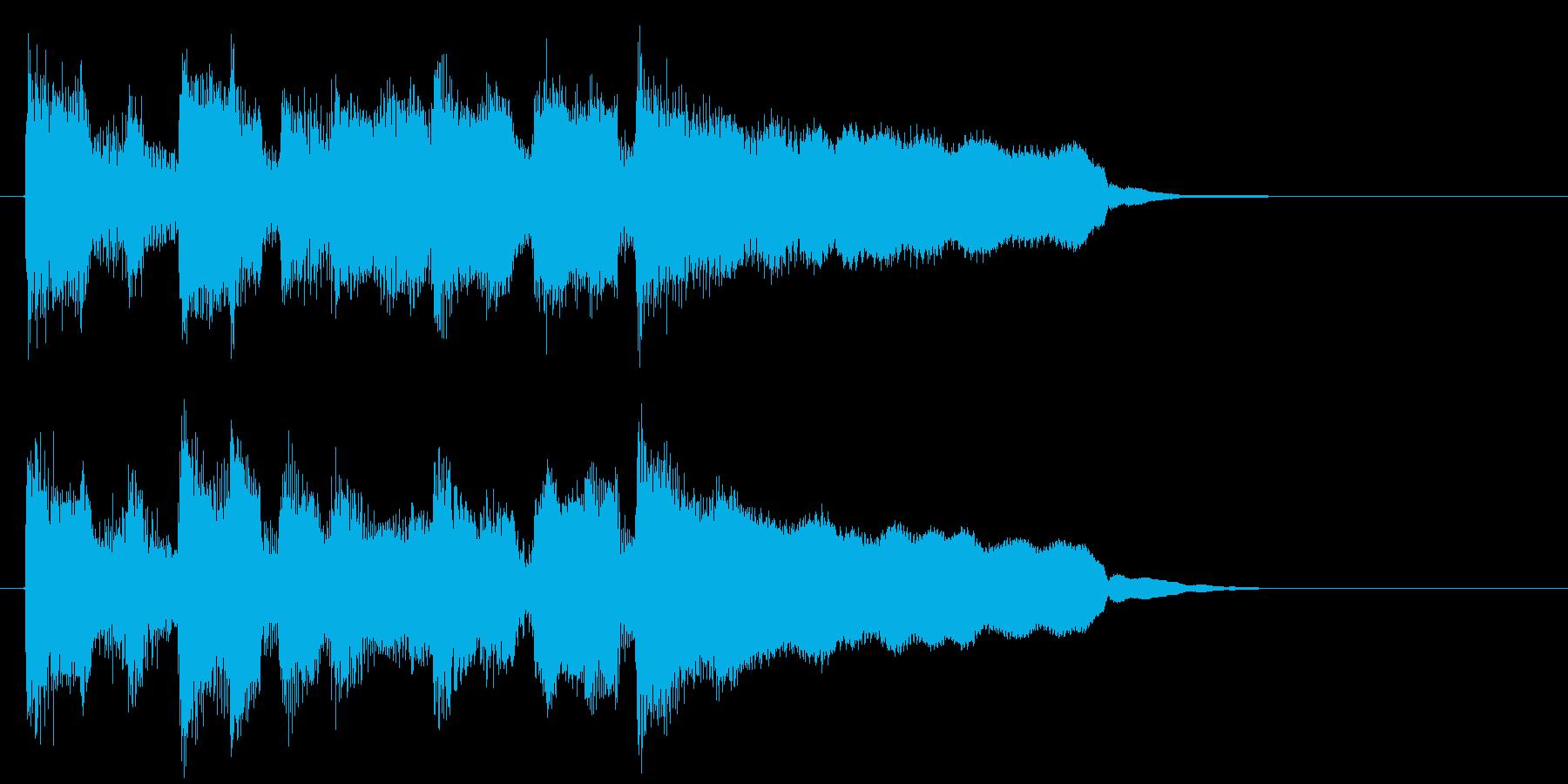 ポップで楽しい可愛いリコーダーのジングルの再生済みの波形